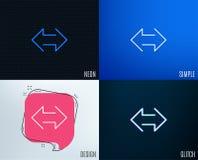 Εικονίδιο γραμμών βελών συγχρονισμού Arrowheads επικοινωνίας ελεύθερη απεικόνιση δικαιώματος