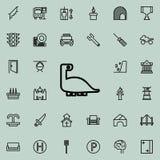 Εικονίδιο δεινοσαύρων Λεπτομερές σύνολο minimalistic εικονιδίων γραμμών Γραφικό σχέδιο ασφαλίστρου Ένα από τα εικονίδια συλλογής  απεικόνιση αποθεμάτων