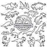 Εικονίδιο δεινοσαύρων που απομονώνεται οι χαρακτήρες κινουμένων σχεδίων σχεδιάζουν διανυσματική απεικόνιση
