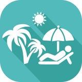 Εικονίδιο διακοπών στον ήλιο ελεύθερη απεικόνιση δικαιώματος