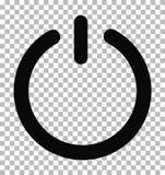 Εικονίδιο δύναμης σε trasparent Σύμβολο δύναμης κλεισμένο ο Μαύρος δ Στοκ φωτογραφίες με δικαίωμα ελεύθερης χρήσης