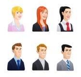 Εικονίδιο ειδώλων επιχειρηματιών καθορισμένο - ύφος κινούμενων σχεδίων Στοκ Εικόνες