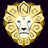 Εικονίδιο ενός κίτρινου λιονταριού Στοκ εικόνα με δικαίωμα ελεύθερης χρήσης