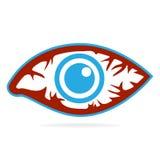 Εικονίδιο ερυθρότητας ματιών, εμπρηστική ασθένεια των ματιών απεικόνιση αποθεμάτων