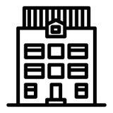Εικονίδιο ιδιωτικών πυροσβεστικών σωλήνων τρεις-ιστορίας Αρχιτεκτονικής απεικόνιση που απομονώνεται διανυσματική στο λευκό Σχέδιο ελεύθερη απεικόνιση δικαιώματος