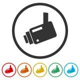 Εικονίδιο κάμερων ασφαλείας, 6 χρώματα συμπεριλαμβανόμενα Στοκ φωτογραφίες με δικαίωμα ελεύθερης χρήσης