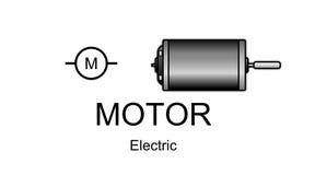 Εικονίδιο και σύμβολο ηλεκτρικών μηχανών Στοκ Εικόνες