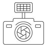 Εικονίδιο καμερών φωτογραφιών, ύφος περιλήψεων Στοκ φωτογραφίες με δικαίωμα ελεύθερης χρήσης