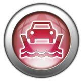 Εικονίδιο, κουμπί, πορθμείο οχημάτων εικονογραμμάτων απεικόνιση αποθεμάτων