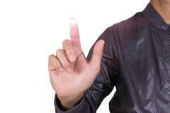 Εικονίδιο κουμπιών ώθησης από τον άνθρωπο δάχτυλων Στοκ φωτογραφία με δικαίωμα ελεύθερης χρήσης