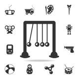 Εικονίδιο λίκνων Newtons Λεπτομερές σύνολο εικονιδίων παιχνιδιών μωρών Γραφικό σχέδιο εξαιρετικής ποιότητας Ένα από τα εικονίδια  απεικόνιση αποθεμάτων
