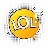 Εικονίδιο λεκτικών ετικετών κειμένων Lol Λαϊκό αναδρομικό διανυσματικό σχέδιο υποβάθρου ετικεττών κωμικό Στοκ εικόνες με δικαίωμα ελεύθερης χρήσης