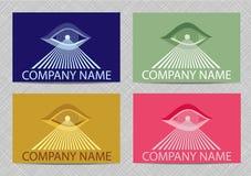 Εικονίδιο λογότυπων ματιών. Στοκ Εικόνα