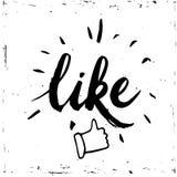 Εικονίδιο μέσων αντίχειρων επάνω κοινωνικό στο άσπρο υπόβαθρο Διάνυσμα, απεικόνιση, λέξη καλλιγραφίας όπως Στοκ Εικόνες