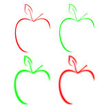 εικονίδιο μήλων Στοκ Φωτογραφίες