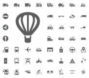 Εικονίδιο μπαλονιών αέρα Εικονίδιο αερόστατων Καθορισμένα εικονίδια μεταφορών και διοικητικών μεριμνών Καθορισμένα εικονίδια μετα Στοκ εικόνες με δικαίωμα ελεύθερης χρήσης