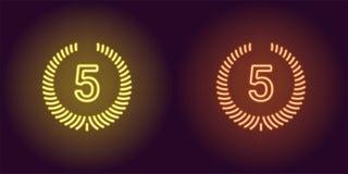 Εικονίδιο νέου της κίτρινης και πορτοκαλιάς πέμπτης θέσης Στοκ εικόνα με δικαίωμα ελεύθερης χρήσης