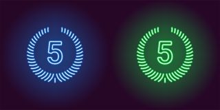 Εικονίδιο νέου της μπλε και πράσινης πέμπτης θέσης Στοκ Εικόνες