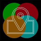 Εικονίδιο ναυσιπλοΐας - διανυσματικό εικονίδιο δεικτών χαρτών ελεύθερη απεικόνιση δικαιώματος