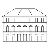Εικονίδιο οικοδόμησης, ύφος περιλήψεων Στοκ Εικόνες