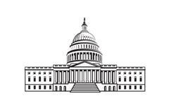 Εικονίδιο οικοδόμησης Capitol Στοκ Εικόνα