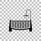 Εικονίδιο παχνιών μωρών επίπεδο διανυσματική απεικόνιση