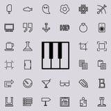 Εικονίδιο περιλήψεων κλειδιών πιάνων Λεπτομερές σύνολο minimalistic εικονιδίων γραμμών Γραφικό σχέδιο ασφαλίστρου Ένα από τα εικο Στοκ φωτογραφία με δικαίωμα ελεύθερης χρήσης