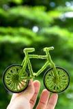Εικονίδιο ποδηλάτων Eco, ενεργειακή έννοια Στοκ Φωτογραφίες