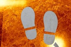 Εικονίδιο ποδιών ο τρόπος Στοκ Φωτογραφίες