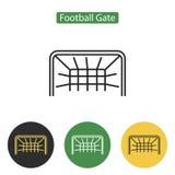 Εικονίδιο πυλών ποδοσφαίρου Στοκ φωτογραφία με δικαίωμα ελεύθερης χρήσης