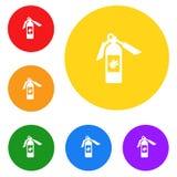Εικονίδιο πυροσβεστήρων, σημάδι, καλύτερη τρισδιάστατη απεικόνιση Στοκ εικόνες με δικαίωμα ελεύθερης χρήσης