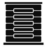 Εικονίδιο ραφιών κεντρικών υπολογιστών, απλό ύφος απεικόνιση αποθεμάτων