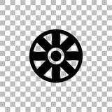 Εικονίδιο ροδών κάρρων επίπεδο διανυσματική απεικόνιση