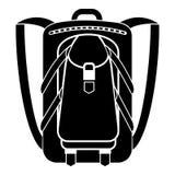 Εικονίδιο σακιδίων πλάτης πεζοπορίας, απλό ύφος ελεύθερη απεικόνιση δικαιώματος