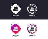 Εικονίδιο σημαδιών κέικ γενεθλίων Καίγοντας σύμβολο κεριών διάνυσμα ελεύθερη απεικόνιση δικαιώματος