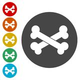 Εικονίδιο σημαδιών κόκκαλων Σύμβολο τροφίμων κατοικίδιων ζώων ελεύθερη απεικόνιση δικαιώματος