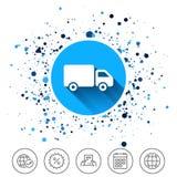 Εικονίδιο σημαδιών φορτηγών παράδοσης Φορτίο van symbol Στοκ φωτογραφία με δικαίωμα ελεύθερης χρήσης
