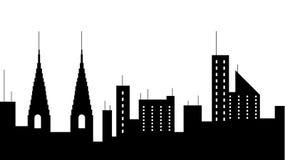 Εικονίδιο σκιαγραφιών πόλεων scape Στοιχείο της απεικόνισης εικονικών παραστάσεων πόλης Το εικονίδιο σημαδιών και συμβόλων μπορεί ελεύθερη απεικόνιση δικαιώματος