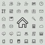 Εικονίδιο σπιτιών Λεπτομερές σύνολο minimalistic εικονιδίων Γραφικό σχέδιο ασφαλίστρου Ένα από τα εικονίδια συλλογής για τους ιστ διανυσματική απεικόνιση