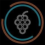 εικονίδιο σταφυλιών, διανυσματική απεικόνιση φρούτων, κρασί φύσης διανυσματική απεικόνιση