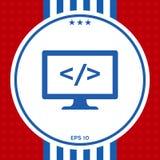 Εικονίδιο συμβόλων κωδικοποίησης Στοκ εικόνα με δικαίωμα ελεύθερης χρήσης