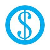Εικονίδιο συμβόλων νομίσματος Στοκ Εικόνες