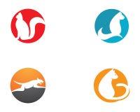 εικονίδιο σχεδίου γατών κινούμενων σχεδίων minimalistic απεικόνιση αποθεμάτων