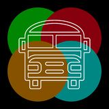 Εικονίδιο σχολικών λεωφορείων - διανυσματικό όχημα μεταφορών διανυσματική απεικόνιση