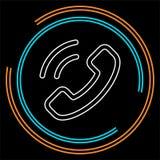 Εικονίδιο τηλεφωνικών κέντρων - υπηρεσία υποστήριξης πελατών - εικονίδιο επικοινωνίας διανυσματική απεικόνιση