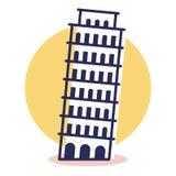 Εικονίδιο της Πίζας - ταξίδι και προορισμός ελεύθερη απεικόνιση δικαιώματος