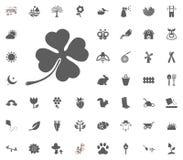 Εικονίδιο τριφυλλιού Διανυσματικό σύνολο εικονιδίων απεικόνισης άνοιξη διανυσματική απεικόνιση