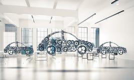 Εικονίδιο υπηρεσιών ή κατασκευής αυτοκινήτων Στοκ εικόνες με δικαίωμα ελεύθερης χρήσης