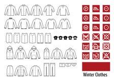 Εικονίδιο χειμερινών clothesand ενδυμάτων Στοκ Φωτογραφία