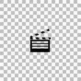 Εικονίδιο χτυπημάτων ταινιών επίπεδο διανυσματική απεικόνιση